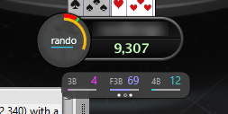 Graphical HUD for playing online poker